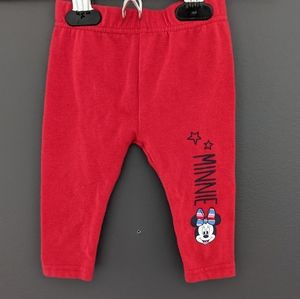 Disney baby Minnie Mouse red tights/leggings